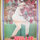 Boston Red Sox Willie McGee 1995 Newspaper Poster