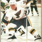 St Louis Blues Brett Hull Vancouver Canucks Trevor Linden 1992 Pinup Photos 8x10