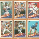 1985 Topps New York Mets Team Lot 24 diff Dwight Gooden RC Keith Hernandez Mookie Wilson Rusty Staub
