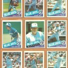 1985 Topps Toronto Blue Jays Team Lot 25 diff Dave Stieb Jorge Bell Ernie Whitt Lloyd Moseby