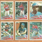 1985 Topps Texa Rangers Team Lot 29 diff Buddy Bell Mickey Rivers Larry Parrish Charlie Hough