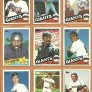 1985 Topps San Francisco Giants Team Lot 27 diff Dusty Baker Jack Clark Jeff Leonard Gary Lavelle