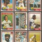 1981 1982 1983 Topps Milwaukee Brewers Team Lot 32 diff Paul Molitor Cecil Cooper Gorman Thomas