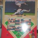 1990 Boston Red Sox Schedule Broadside Budweiser 18 x 30