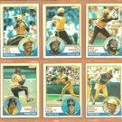 1983 Topps Pittsburgh Pirates Team Lot 18 Bill Madlock Tony Pena Kent Tekulve Mike Easler Johnny Ray