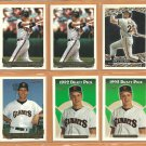 1993 Topps Gold Insert San Francisco Giants Team Lot 18 Will Clark Matt Williams John Burkett