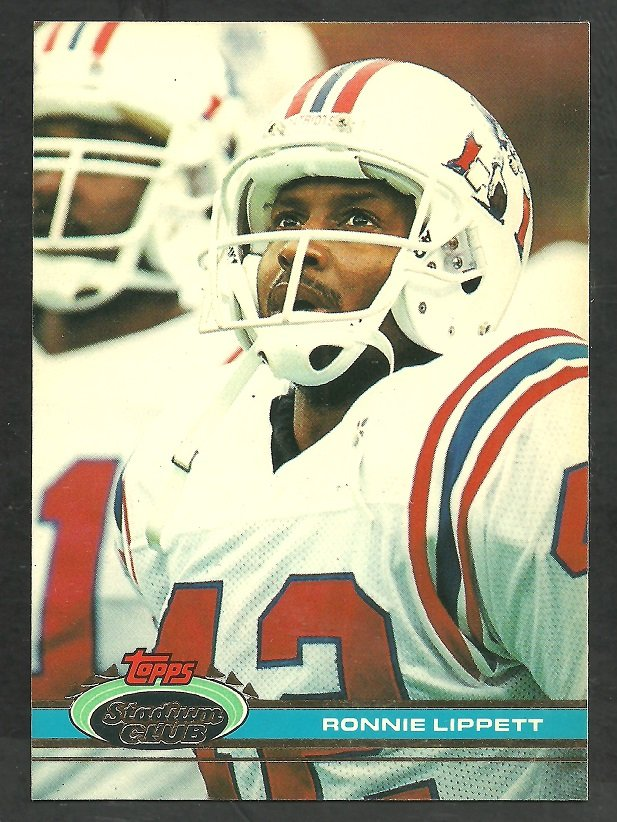 New England Patriots Ronnie Lippett 1991 Topps Stadium Club Football Card 454