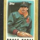 Boston Red Sox Bruce Hurst 1987 Topps Mini Baseball Card 43