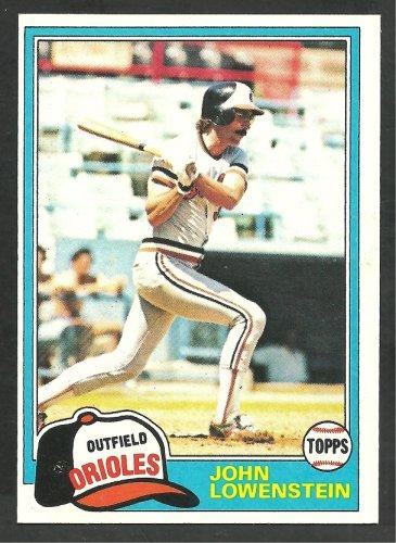 Baltimore Orioles John Lowenstein 1981 Topps Baseball Card 591 nr mt