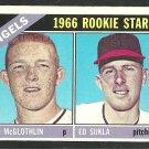 California Angels Rookie Stars Jim McGlothlin Ed Sukla 1966 Topps Baseball Card 417 ex