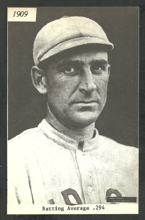 Boston Red Sox Jake Stahl (1908-1910) 1974 TCMA Baseball Card nr mt