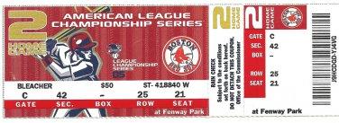Boston Red Sox 2005 ALCS American League Championship Series Unused Ticket Fenway Park