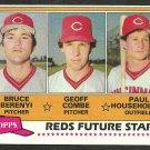 Cincinnati Reds Future Stars Bruce Berenyi Geoff Combe Paul Householder 1981 Topps Baseball Card 606