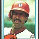 Houston Astros Rafael Landestoy 1981 Topps Baseball Card 597 nr mt
