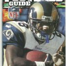 2001 Miller Lite Beer NCAA NFL Football Guide St Louis Rams Marshall Faulk