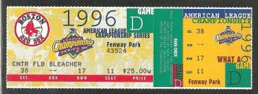 Boston Red Sox 1996 ALCS American League Championship Series Unused Ticket Fenway Park