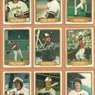 1982 Fleer Baltimore Orioles Team Lot 26 diff Eddie Murray Jim Palmer Al Bumbry Ken Singleton