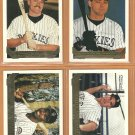 1993 Topps Gold Insert Colorado Rockies Team Lot Dante Bichette Jerald Clark Eric Wedge Rudy Seanez