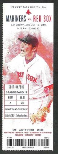 Seattle Mariners Boston Red Sox 2015 Ticket 7 HR Jackie Bradley 2 Nelson Cruz Austin Jackson