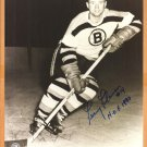 Boston Bruins Fernie Flaman HOF 1990 Autograph Signed Photo 8x10