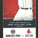 Boston Red Sox Minnesota Twins 2016 Ticket Hanley Ramirez Dustin Pedroia Mookie Betts Bogaerts