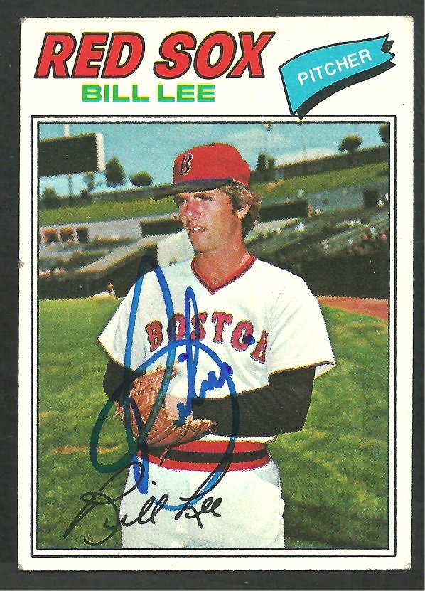 Boston Red Sox Bill Lee Autograph Signed 1977 Topps Baseball Card 503