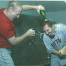 Boston Red Sox Curt Schilling Kevin Millar 2004 Clubhouse Celebration 2005 Pinup Photo 8x10