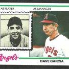 California Angels Dave Garcia 1978 Topps Baseball Card 656 nr mt