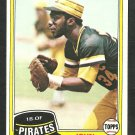 Pittsburgh Pirates John Milner 1981 Topps Baseball Card 618 nr mt
