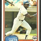 New York Mets Steve Henderson 1981 Topps Baseball Card 619 nr mt