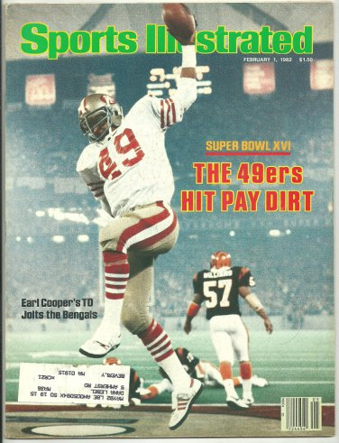 1982 Sports Illustrated 49ers Super Bowl Cincinnati Bengals New