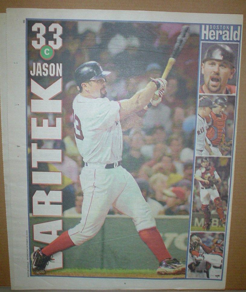 Boston Red Sox Jason Varitek 2004 Newspaper Poster