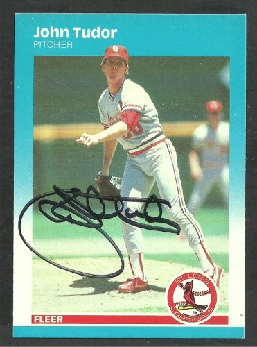 St Louis Cardinals John Tudor Autograph Signed 1987 Fleer Baseball Card 310