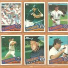 1985 Topps Detroit Tigers Team Lot 21 Alan Trammell Kirk Gibson Jack Morris Lance Parrish