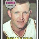 Philadelphia Phillies Woody Fryman 1969 Topps Baseball Card 51 ex mt