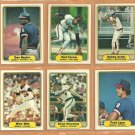 1982 Fleer California Angels Team Lot 24 Rod Carew Don Baylor Bobby Grich Brian Downing