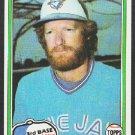 Toronto Blue Jays Roy Howell 1981 Topps Baseball Card 581 nr mt