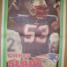 New England Patriots Chris Slade 1995 Boston Herald Poster