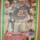 New England Patriots Vincent Brisby 1995 Newspaper Poster