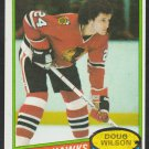 Chicago Black Hawks Doug Wilson 1980 Topps Hockey Card 12 ex