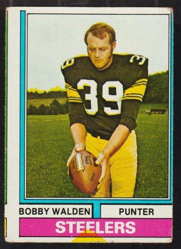 Pittsburgh Steelers Bobby Walden 1974 Topps Football Card 324 good smc