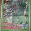 New England Patriots Dave Meggett 1995 Boston Herald Poster