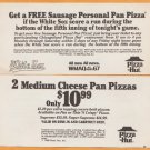 1988 Chicago White Sox Pizza Hut Discount Coupon If the Sox Score in the Bottom of the 5th