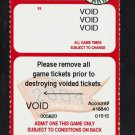 2005 Boston Red Sox Voided Full Ticket With World Series Trophy