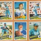1985 Topps Kansas City Royals Team Lot George Brett Willie Wilson Hal McRae Dick Howser