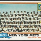 New York Mets Team Card Joe Torre 1981 Topps Baseball Card 681 nr mt