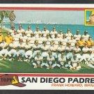 San Diego Padres Team Card 1981 Topps Baseball Card 685 nr mt