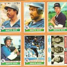 1979 Topps Chicago White Sox Team Lot 20 Ralph Garr Chet Lemon Wilbur Wood Don Kessinger