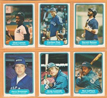 1982 Fleer Chicago White Sox Team Set 25 Carlton Fisk Harold Baines Greg Luzinski Chet Lemon