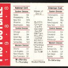 1988 NFL Week by Week Push Pull Pocket Schedule Moynihan Lumber Co Beverly MA